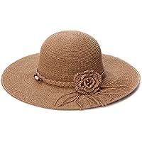 Siggi Ladies Floppy Summer Sun Beach Straw Hats UV50 Crushable Wide Brim Sunhat for Women