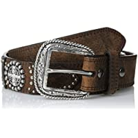 Ariat Men's Circle Bling Concho Overlay - brown