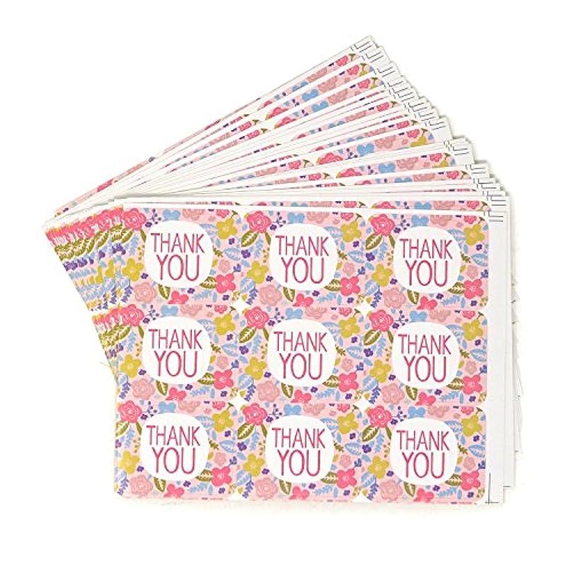 高架賢明なバウンスHonbay 20枚 180枚 Thank You フローラルステッカーラベル 自己粘着シールステッカー装飾ステッカー ウェディング、スクラップブック、感謝のメモ、カード作成、パッケージ、ギフト包装、封筒シールなどに