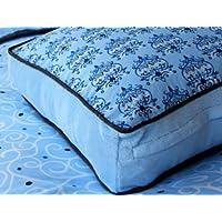 Caden Lane Luxe Collection Bedding Square Pillow, Blue by Caden Lane