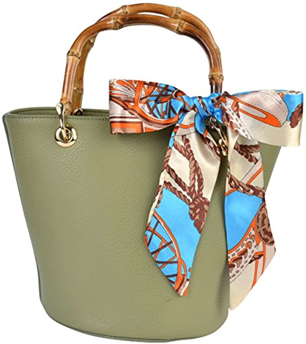 小人上級店主(カービーズ) curvy's バンブーハンドルバッグ バンブーハンドル バケツバッグ バケツ ハンドバッグ ハンドバック ハンド バッグ 鞄 カバン bag スカーフ
