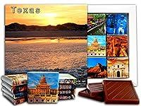 DA CHOCOLATE キャンディスーベニア テキサス州 チョコレートギフトセット 13x13cm 1箱 (ビーチ)