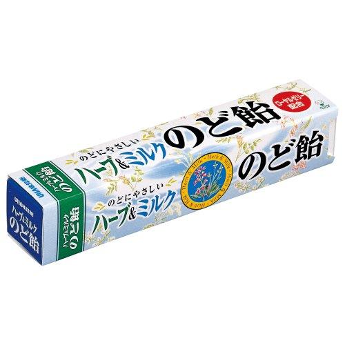味覚糖   ハーブ&ミルクのど飴スティック  10ツブ×10袋