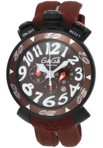 [ガガミラノ]GaGa MILANO 腕時計 クロノ48mm ブラック文字盤 ・・・