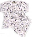 介護 パジャマ 全身介護 レディース 婦人 通年用 入院着 上下ワンタッチテープ 着替え ラクラクタイプ (L, ピンク)