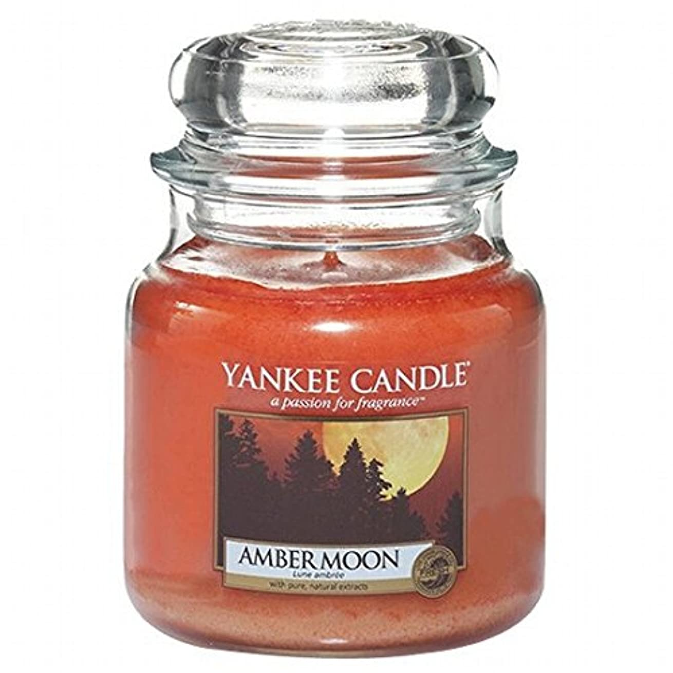シャンパンそれに応じて目の前のヤンキーキャンドル(YANKEE CANDLE) YANKEE CANDLE ジャーM 「 アンバームーン 」