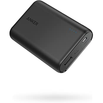 Anker PowerCore 10000 (10000mAh 最小最軽量 大容量 モバイルバッテリー) 【PSE認証済 / PowerIQ搭載】iPhone&Android対応 *2019年3月時点(ブラック)