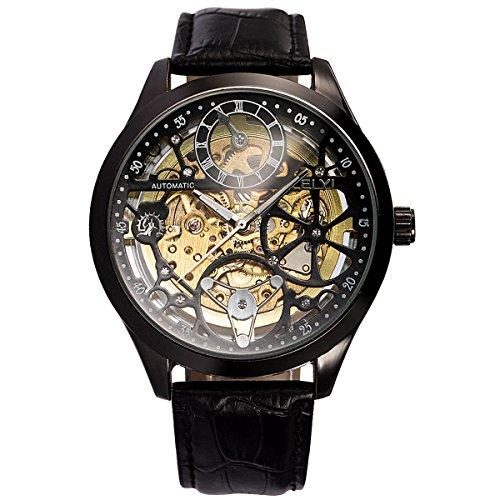 ManChDa ラグジュアリー スケルトン スチームパンク 自動機械式 メンズ スポーツ 腕時計