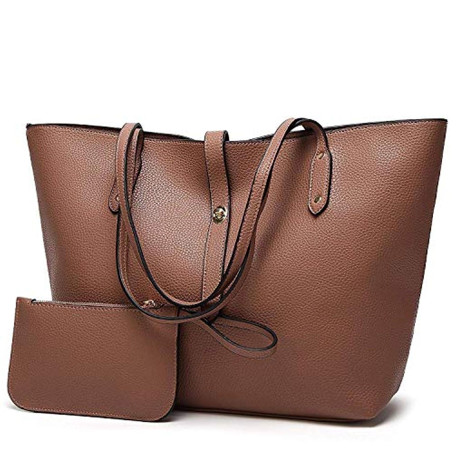 自分のために忘れる選ぶ[TcIFE] ハンドバッグ レディース トートバッグ 大容量 無地 ショルダーバッグ 2way 財布とハンドバッグ