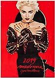 2019 壁のカレンダー [12ページ20x30cm] Madonna ビンテージ レトロ ミュージカル ポスターs