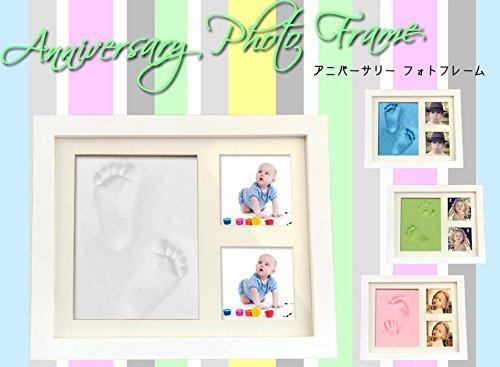 MIRACLE 手形 足形 フォトフレーム 赤ちゃん 記念 写真 粘土 インテリア ハート 贈り物 プレゼント 思い出 (ピンク) MC-ANIPHOTO-PK