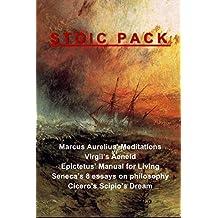 Stoic Pack: Marcus Aurelius' Meditations, Virgil's Aeneid, Epictetus' Manual for Living, Seneca's 8 essays on philosophy, and Cicero's Scipio's Dream