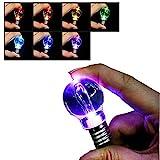 STARDUST 色彩変化 電球キーホルダー 5個セット LEDライト 虹色 カラフル お洒落 車 鍵 アクリル スイッチ SD-BULB-KEY