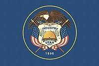 ユタ州状態フラグ–活版 24 x 36 Giclee Print LANT-51135-24x36