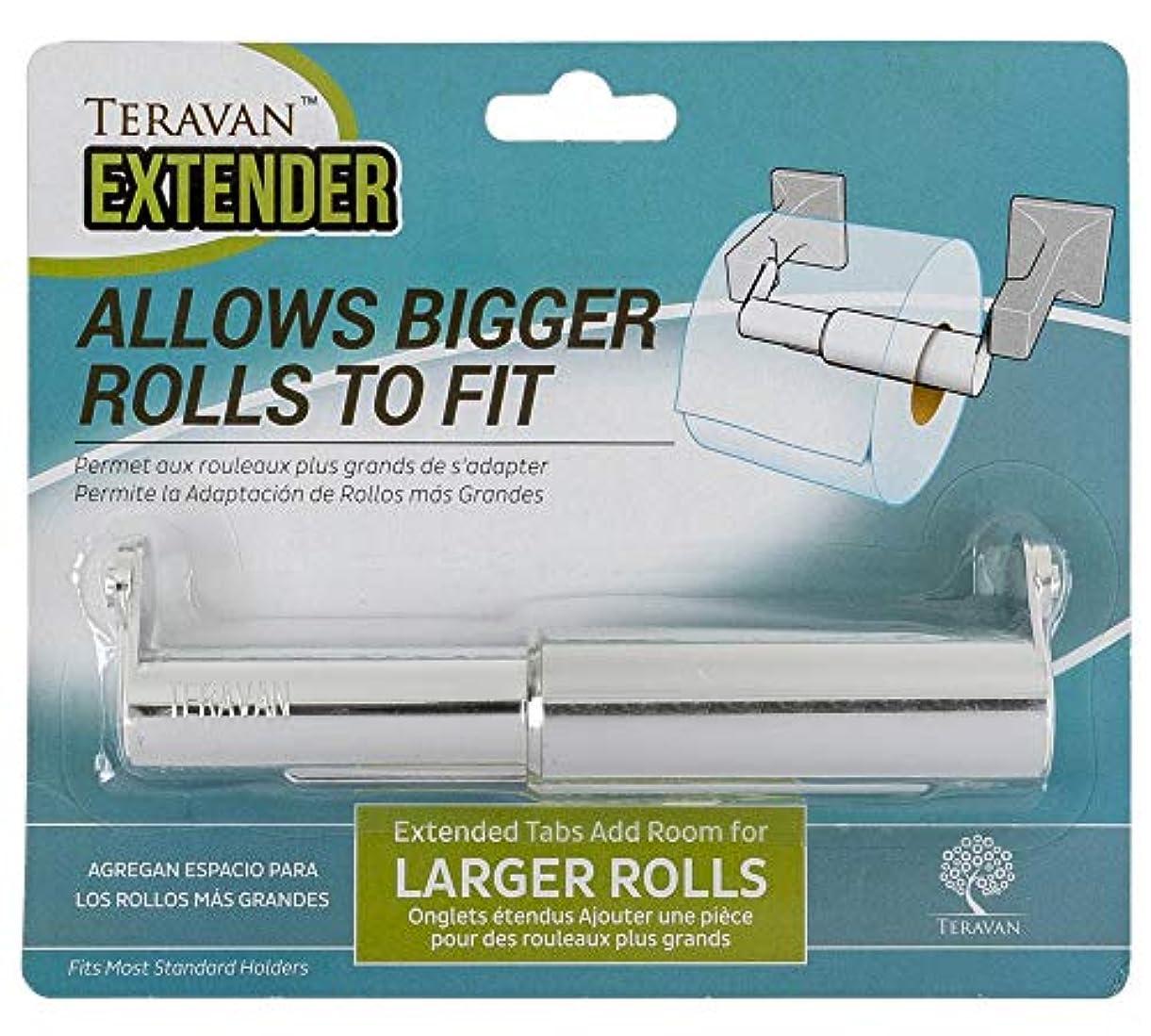 キノコ火曜日集中的なteravan固定Extender for Largerトイレロール紙 シルバー TE-1003