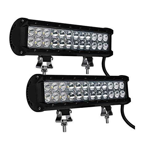 Phenas 2個 72W CREE製 LED 作業灯 ワークライト ライトバー 長型 広角 狭角 兼用一体型 12V 24V 兼用 汎用 車外灯 農業機械 防水 1年保証