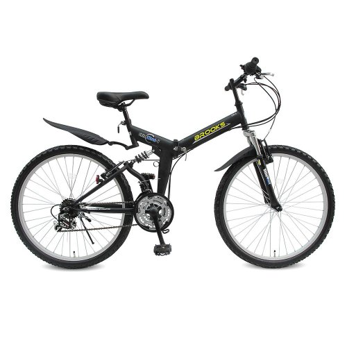 [SHINEWOODⅤ]シャインウッド 自転車 26インチ 折りたたみ マウンテンバイク 軽量 シマノ18段変速 (MS)(ブラック)
