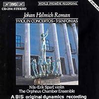 J.H.Romain: 3 Violin Concertos - 3 Sinfonias [Import]