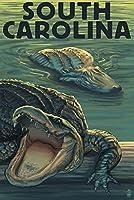 South Carolina–Alligators 12 x 18 Art Print LANT-32675-12x18