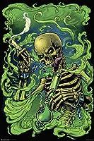High As Hell Poster Smoking Skeleton (61cm x 91,5cm)