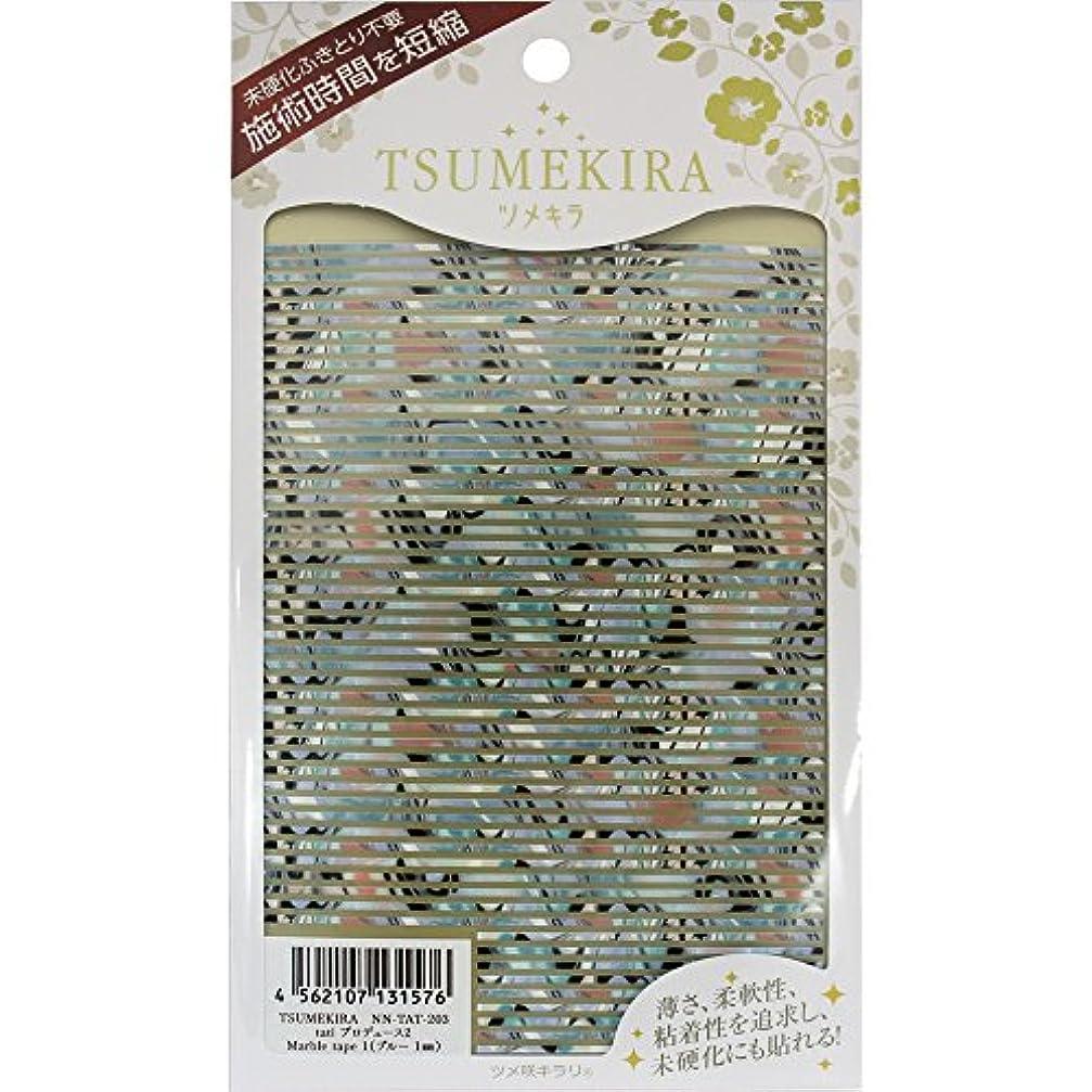 確認する金属予定TSUMEKIRA(ツメキラ) ネイルシール tatiプロデュース2 Marble tape 1 (ブルー/1mm) NN-TAT-203 1枚