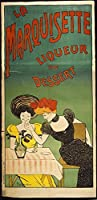 古いTin Sign A Marquisette Liqueur De Dessert–ヴィンテージアルコール広告ポスター