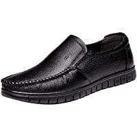 Gaorui Men's Fashion Slip On Business Casual Shoe Faux Leather Moccasins Antislip Loafers
