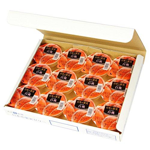 【九州旬食館】 日本の果実 福島県産 白桃 ゼリー 155g× 12個 詰め合わせ セット