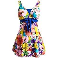 Wantdo Women's Plus Size Swimsuit Shaping Body One Piece Swimwear