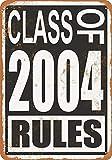 なまけ者雑貨屋 Class of 2004 Rules ブリキ看板 ビンテージ・スタイル、壁の装飾、家、パブ、ビール、ガレージ、庭、コーヒー