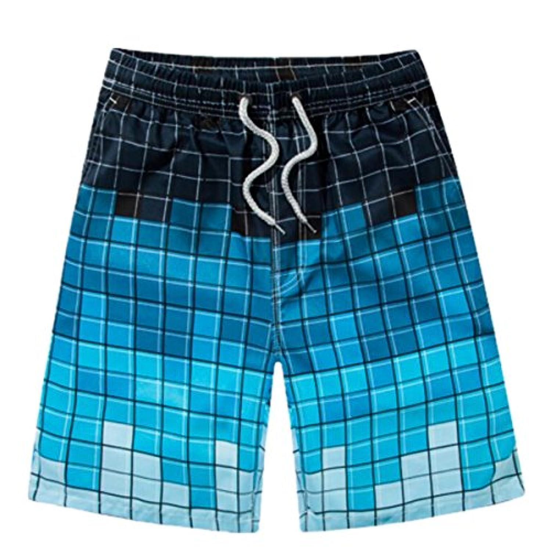 SANKU メンズ水着 グラデーション ゴムウェスト 防水速乾 水陸両用 スイムショーツ スイムウェア 水着 メンズ ビーチパンツ サーフパンツ ショートパンツ 短パン 海パン 海水パンツ おしゃれ 大きいサイズ