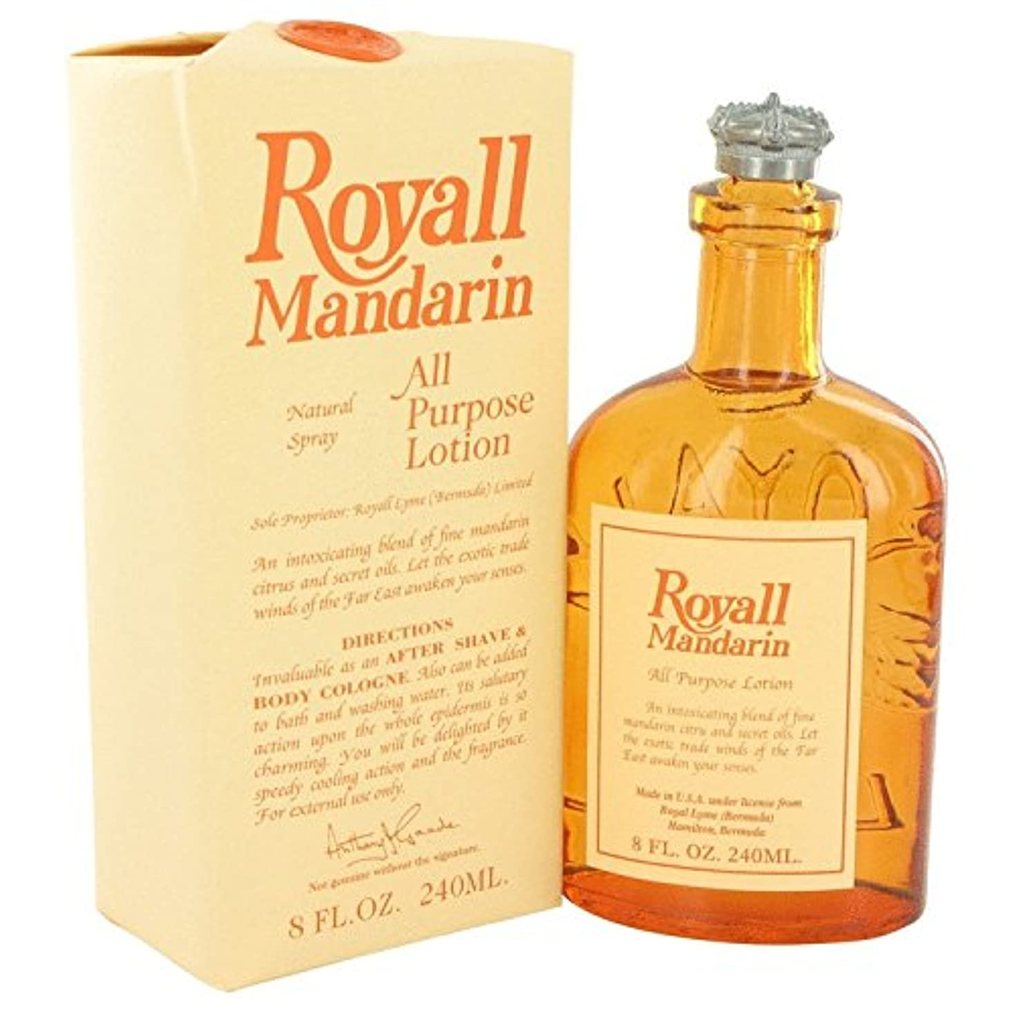 フィクションぎこちないコスチュームRoyall Lyme - Mandarin - All Purpose Lotion Spray - 240ml 8fl.oz