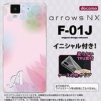 F01J スマホケース arrows NX ケース アローズ エヌエックス イニシャル ぼかし模様 ピンク nk-f01j-tp1593ini Z