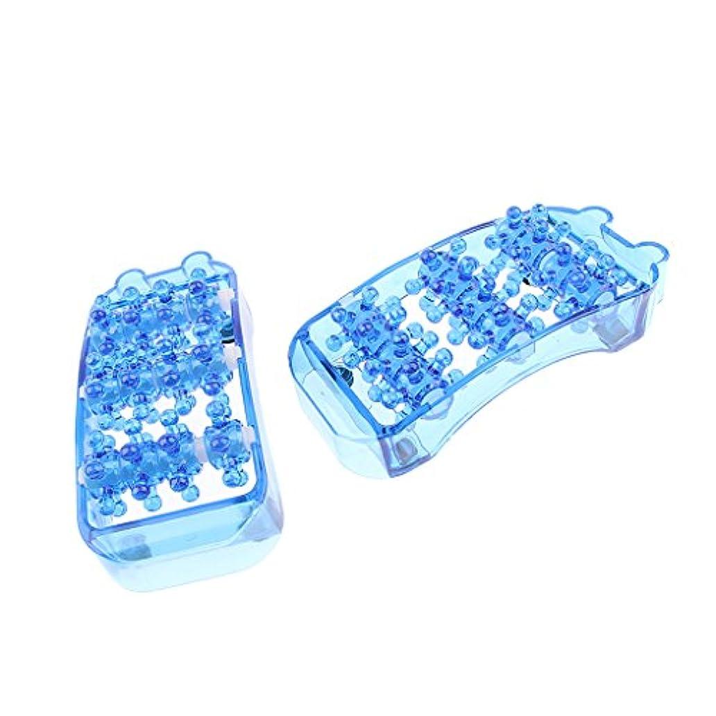 満州車クリスチャンマッサージローラー 足 マッサージャー トリガーポイント フットケア 健康器具 全3色 - 青