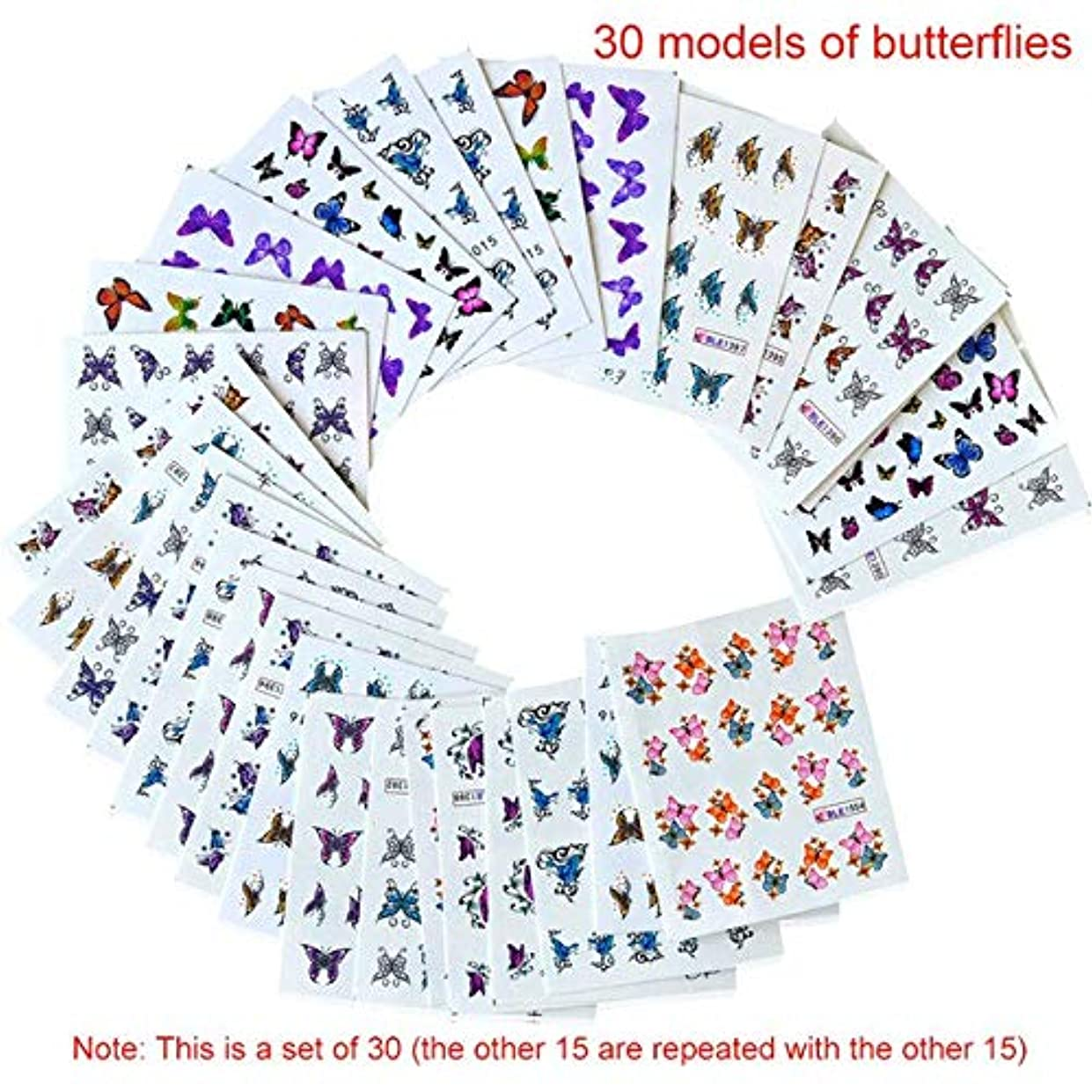 定規ファンシーはぁSUKTI&XIAO ネイルステッカー 釘の透かしのステッカー30の多彩なダンスの女性の泡移動のアップリケ