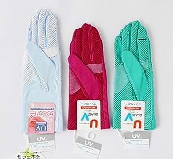 サンカバー【チョイ高!】こだわりと工夫の UV手袋 ナビューブイ スマホ対応 指でーる (アネモネ)