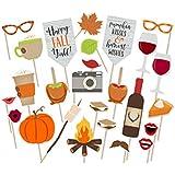 LUOEM ウェディングパーティーの感謝祭の装飾を撮影するための26個のパーティーフォトブースの小道具クリエイティブポーズサインキット