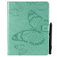 iPad 2 3 4 Flip Cover, Case, Scheam カバー Card Slot [Stand Feature] Leather Wallet Case Vintage Book Style Magnetic Protective Cover Holder for iPad 2 3 4 - Green