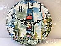 Lts ウォールクロックノンチックナンバークォーツウォールクロックリビングルーム装飾的な屋内時計寝室の時計キッチン時計クリエイティブウッドシンプルクリエイティブ