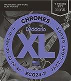 【国内正規品】D'Addario ダダリオ エレキギター弦 フラットワウンド Jazz Light 7弦 (11-65) ECG-24-7 ECG247