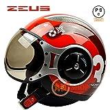 バイクヘルメット ZEUS 218C ヘルメット ジェット パイロット PSC付き【商品1/XXLサイズ】