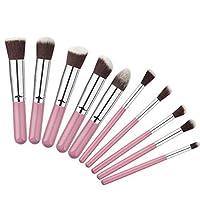 XULHKA 10ピースレインボー化粧ブラシセット合成ファンデーションブラシセットまつげブラシ化粧キット