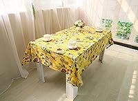 花植物テーブルクロスレジャーダイニング洗えるクリスマス印刷コーヒーテーブル装飾中国スタイル雑巾 , yellow , 60*60cm
