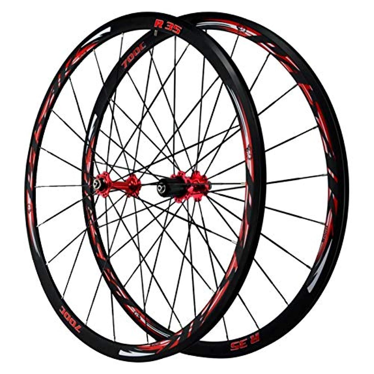険しい山積みの反発自転車ホイールセット700C、サイクリングホイールセット 二重壁 CブレーキVブレーキ 円の高さ30MM 7/8/9/10/11/12スピード