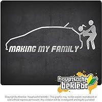 私の家族を作る Making my Family 20cm x 7cm 15色 - ネオン+クロム! ステッカービニールオートバイ