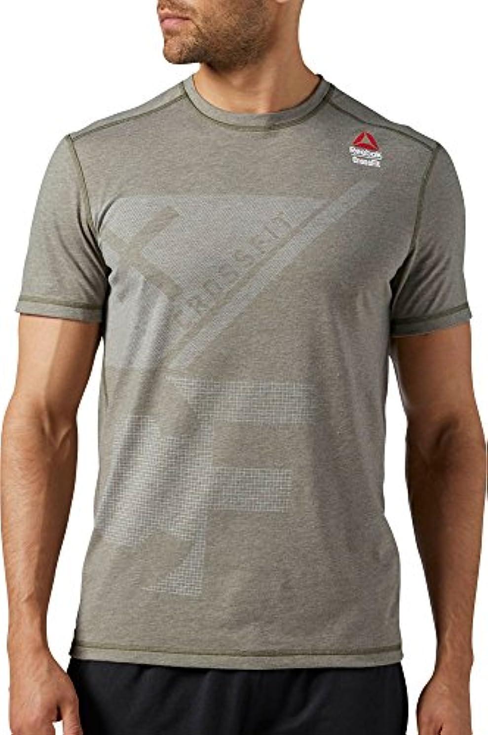 困ったフィラデルフィアお金ゴムリーボック トップス シャツ Reebok Men's CrossFit Burnout T-Shirt ArmyGreen [並行輸入品]