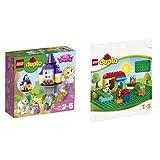 レゴ(LEGO) デュプロ ラプンツェルの塔 10878 & デュプロ 基礎板(緑) 2304