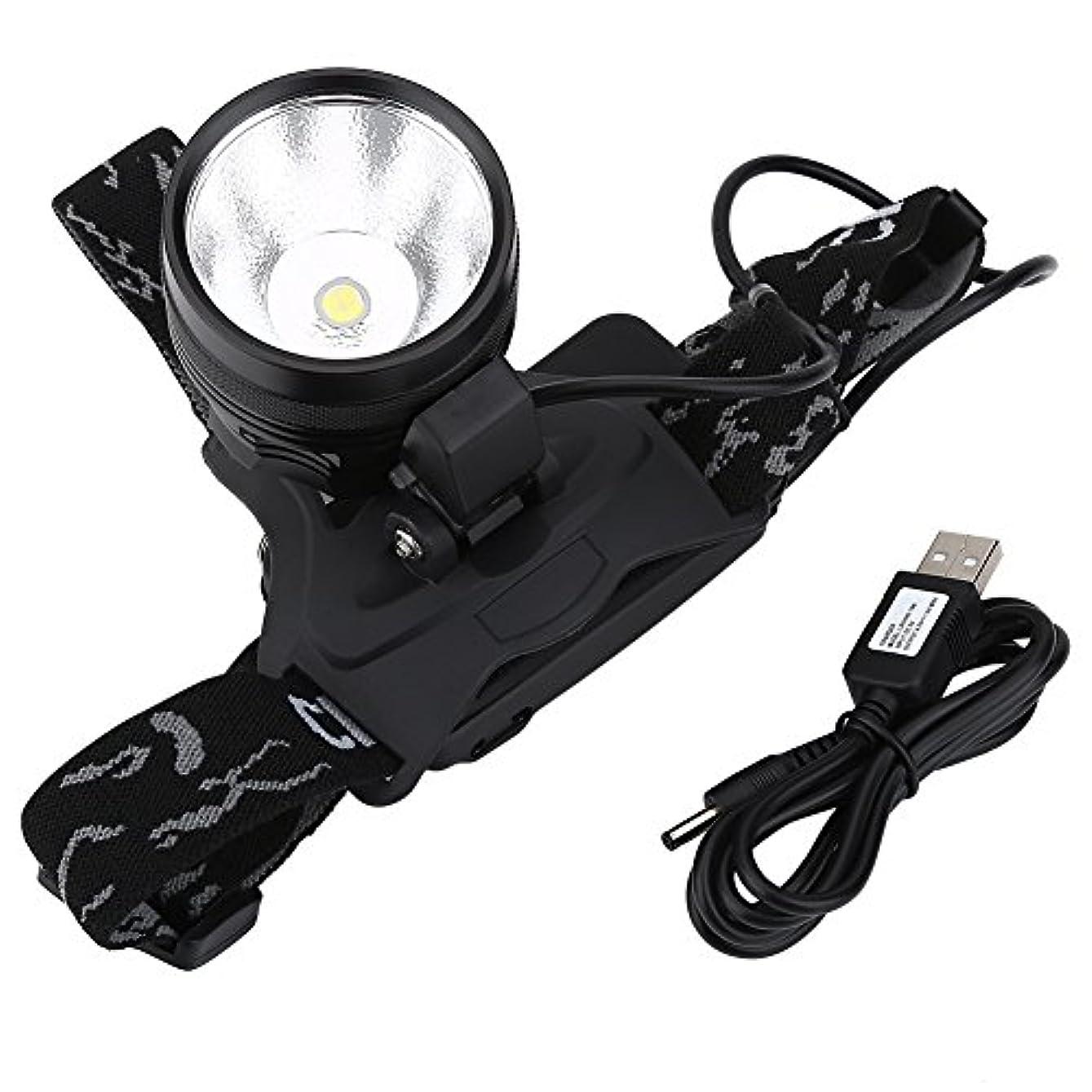 老人レジデンススタックLEDヘッドライト USB充電式 アウトドアライト 作業灯 高輝度 最大3000ルーメン コンパクト 夜間のサイクリング 釣り キャビング キャンプ ハンティング 緊急用