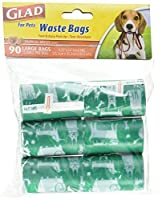 Glad for Pets Waste Bags Tropical Breeze Scent 90 Count [並行輸入品]