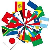 世界の国旗ポストカードシリーズ 2010 サッカーワールドカップ 南アフリカ大会 出場国セット(32カ国) FLAGS OF THE WORLD POST CARD 2010 Soccer World Cup South Africa